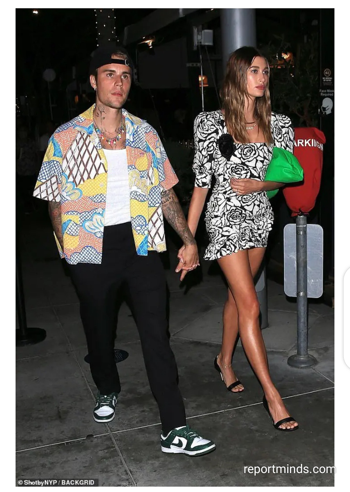 Hailey Spotted With Justin Bieber, Wearing Minidress Showing Her Long Toned Legs