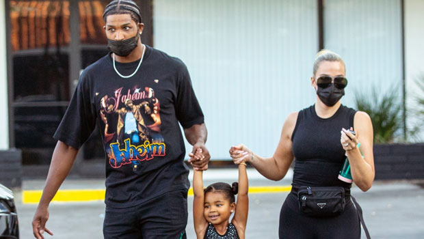 Khloe Kardashian and Tristan Thompson Matched their Clothes While Escorting their Daughter to Dance Class